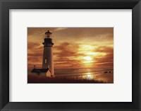 Framed Lighthouse at Sunset