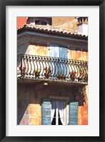 Framed Iron Balcony, Italy