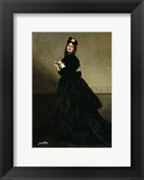 Framed Lady with a Glove.  Madame Carolus-Duran, nee Pauline Croizette, 1869