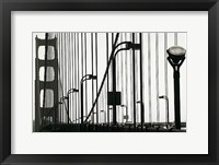 Framed Golden Gate Bridge in Silhouette