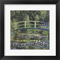 Framed Water Lily Pond, 1899 (blue)