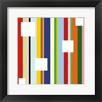 Framed White Square on Stripe (detail)