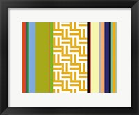 Framed Striped Key