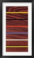 Framed Woodgrain & Stripe