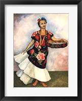 Framed Portrait of Dolores Olmedo