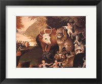Framed Peaceable Kingdom