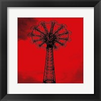 Framed Red Parachute Jump