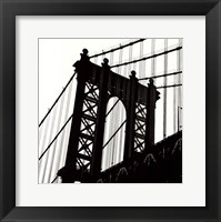 Framed Manhattan Bridge Silhouette (detail)