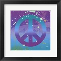 Framed Groovy Peace
