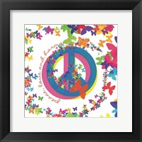 Framed Peace, Love, and Harmony