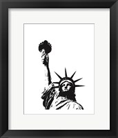 Framed Statue of Liberty (outline)