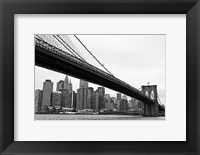 Framed Manhattan from Brooklyn (b/w)