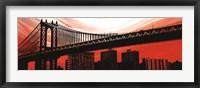 Framed Manhattan Bridge Aura
