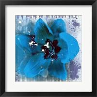 Framed Tulip Fresco (blue)