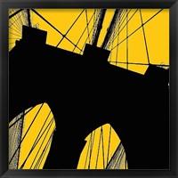 Framed Brooklyn Bridge (yellow)