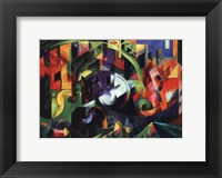 Framed Abstract with Cattle