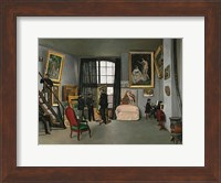 Framed Painter's Atelier in the rue de la Condamine, 1870