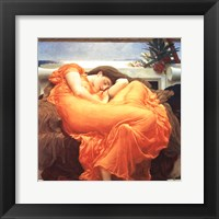 Framed Flaming June