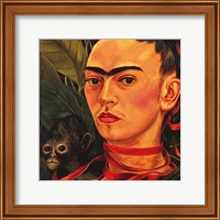Framed Self Portrait with a Monkey, 1940 (detail)