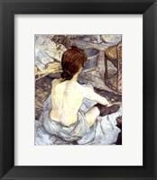 Framed La Toilette