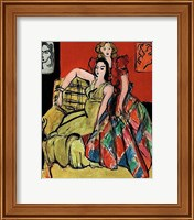 Framed Two Young Women, the Yellow Dress and the Scottish Dress, 1941