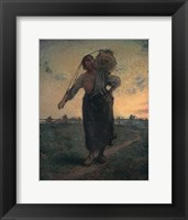 Framed Norman Milkmaid in Gréville, 1874