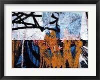 Framed Blue Orange Layers 1