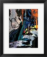 Framed Blue Orange Layers 2