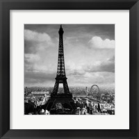 Framed Eiffel Tower, Paris France, 1897