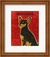 Framed Chihuahua (black and tan)