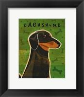 Framed Dachshund (black and tan)