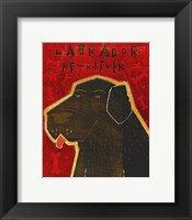 Lab (black) Framed Print