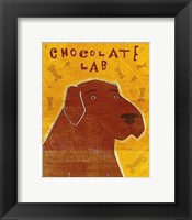 Framed Lab (chocolate)