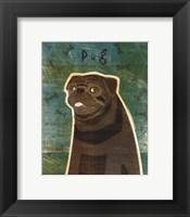 Framed Pug (black)