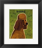 Poodle (brown) Framed Print