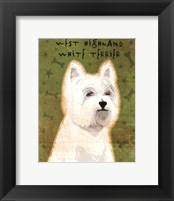 Framed West Highland White Terrier