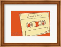 Framed Lunastrella Mix Tape