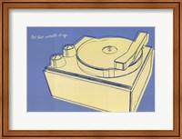 Framed Lunastrella Record Player