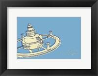Framed Lunastrella Space Station