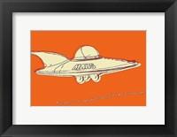 Framed Lunastrella Flying Saucer