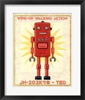 Framed Ted Box Art Robot