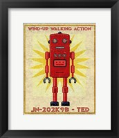 Framed Ted Box Art Robot