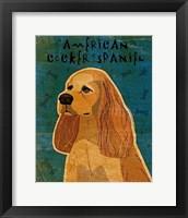 Framed American Cocker Spaniel (buff)