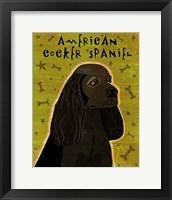 Framed American Cocker Spaniel (black)