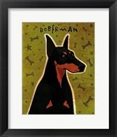 Framed Doberman
