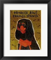 Framed Cavalier King Charles (black and tan)