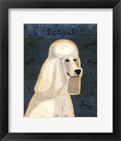Poodle (white) Framed Print