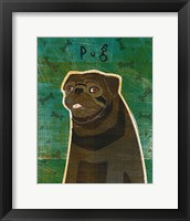Framed Pug (black)