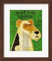 Framed Wire Fox Terrier