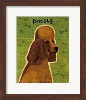 Framed Poodle (brown)